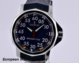Corum Admirals Cup Competition 40 Blue SS / Rubber