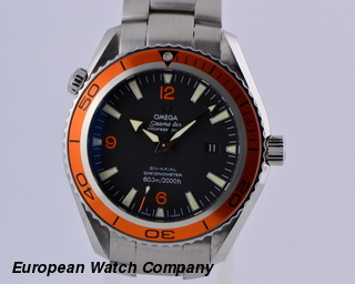 Omega Seamaster Planet Ocean Co-Axial SS/SS Orange Bezel