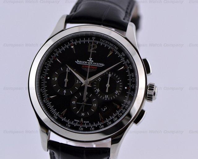 European watch company jaeger lecoultre master chronograph aston martin ss black dial for Chronograph master