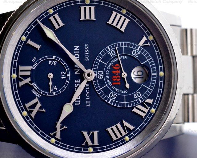 european company ulysse nardin marine chronometer 1846 blue ss ss