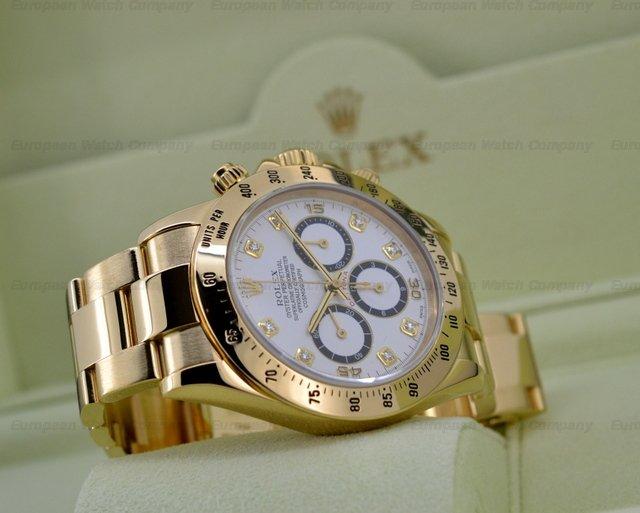 Gold Rolex Daytona White Face