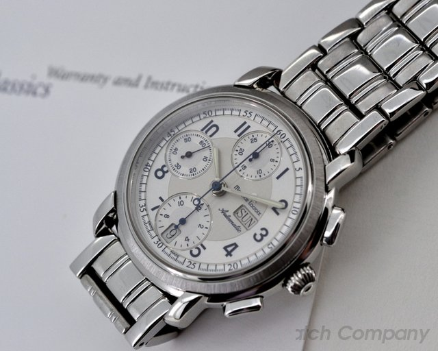 Maurice Lacroix Chronograph Silver Arabic Dial SS / SS