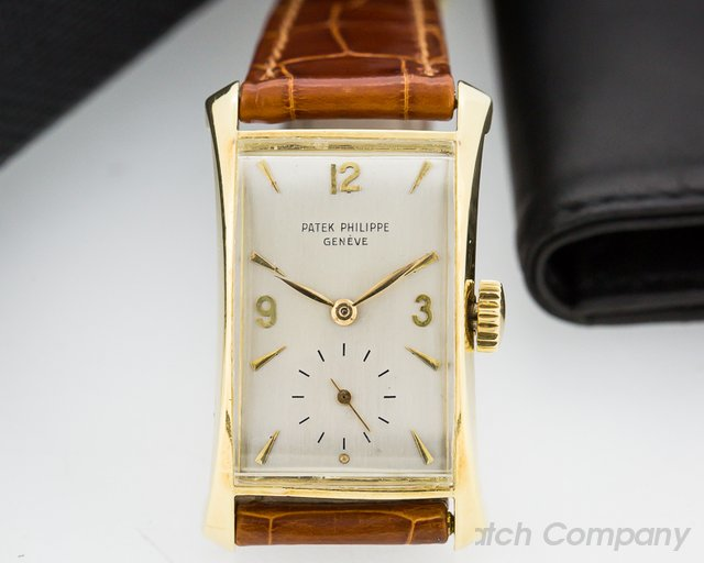 Patek Philippe Vintage Rectangle Flared Lugs 18K Yellow Gold