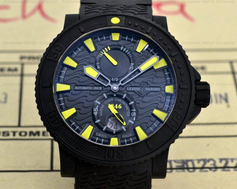 european company ulysse nardin maxi marine diver black sea