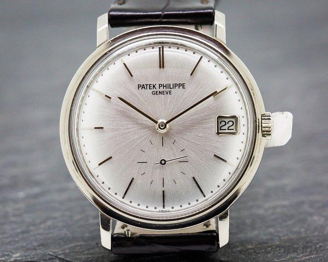 Patek Philippe 3445G Vintage Calatrava Automatic 18K White Gold