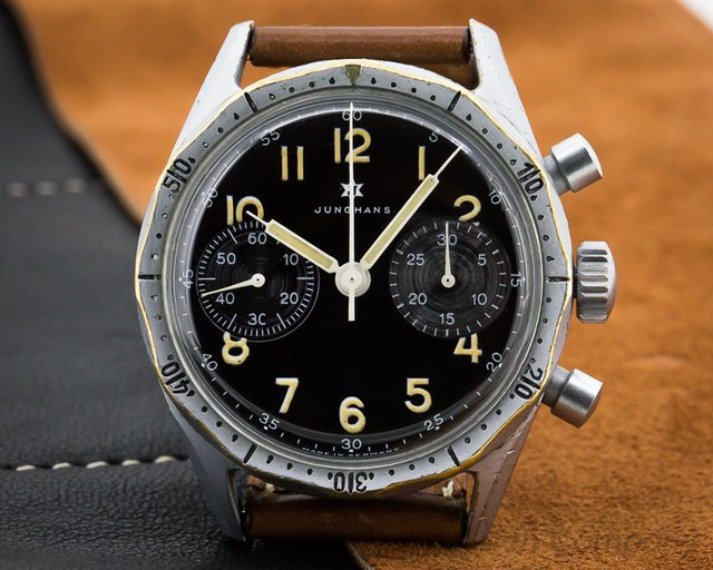 Junghans Vintage German Military J88 Flieger Chronograph Circa 1964