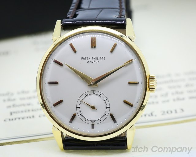 Patek Philippe Calatrava 18K Yellow Gold Manual Wind Circa 1964 35MM