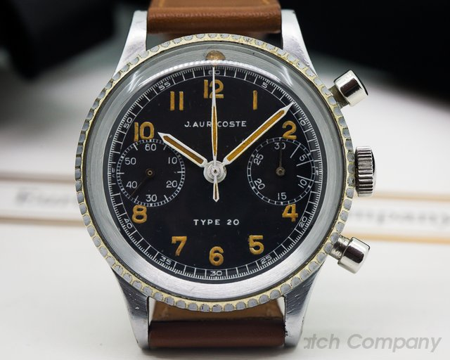 J. Auricoste Vintage Type XX French Air Force Flyback Chronograph