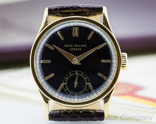 Patek Philippe Calatrava 96 18K Yellow Gold / Black Dial RARE