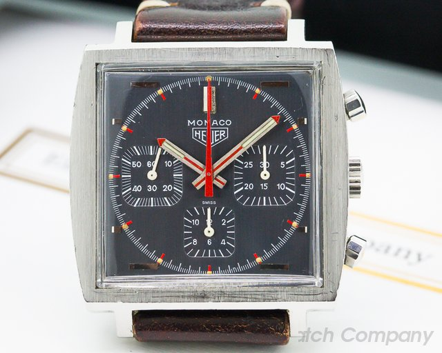 Heuer Vintage Monaco Chronograph Square SS Grey Dial