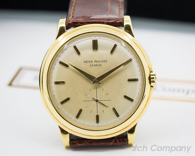 Patek Philippe Calatrava 2552 Automatic 'DISCO VOLANTE' 18K Yellow Gold