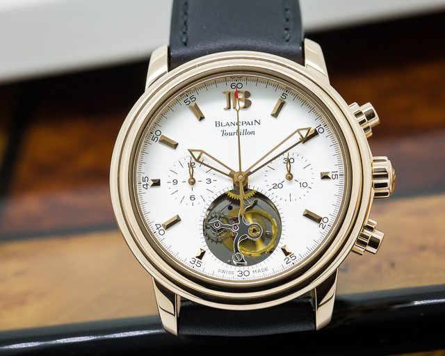 Blancpain Leman Tourbillon Chronograph 18K Rose Gold