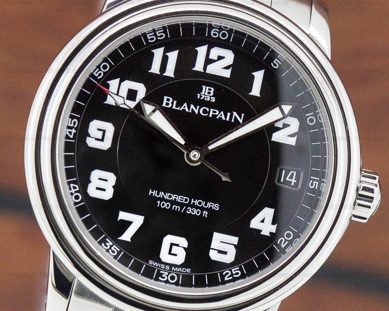 Blancpain 2100-1130M-71 Leman Military Black Dial SS / SS