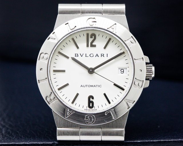 Bvlgari Diagono Automatic White Dial SS Ladies