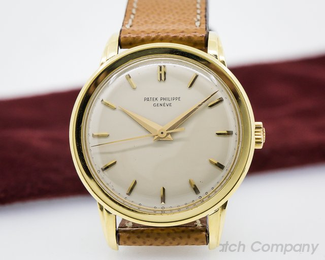 Patek Philippe Calatrava Manual Center Seconds Fancy Lugs 18K Yellow Gold