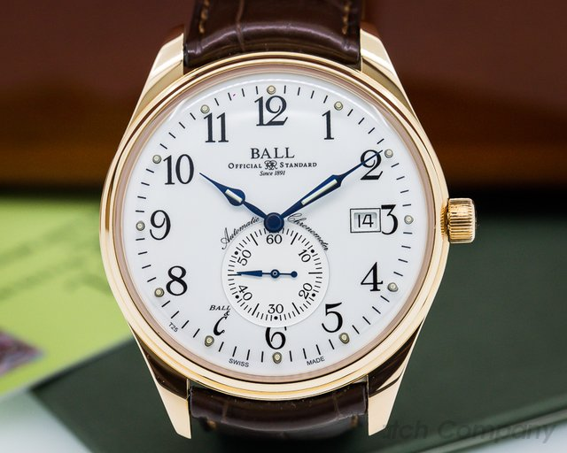 Ball Trainmaster Standard Time 18K RG