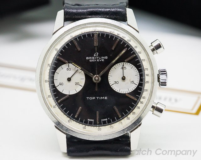 Breitling Vintage Top Time Reverse Panda Dial SS