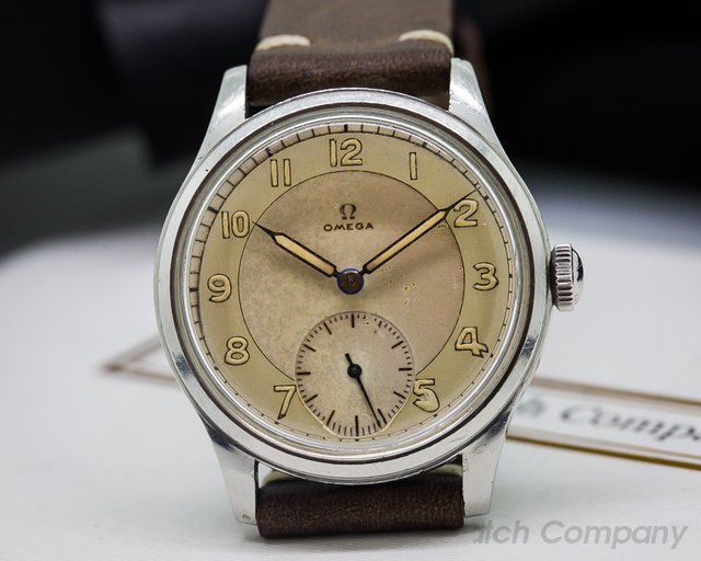 Omega Vintage Suveran 30T2 Military Dial SS