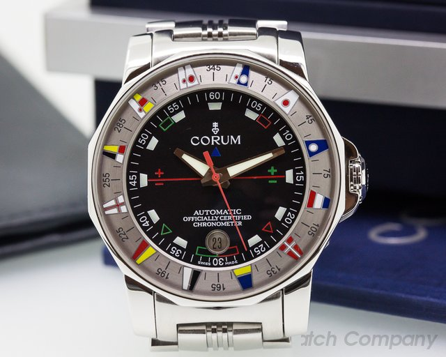 Corum Admirals Cup 44 Automatic Black Dial SS / SS