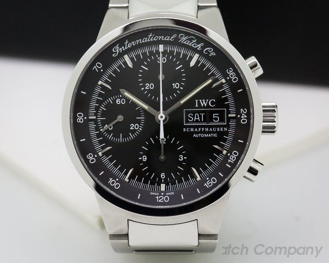 IWC GST Chronograph Black Dial SS / SS