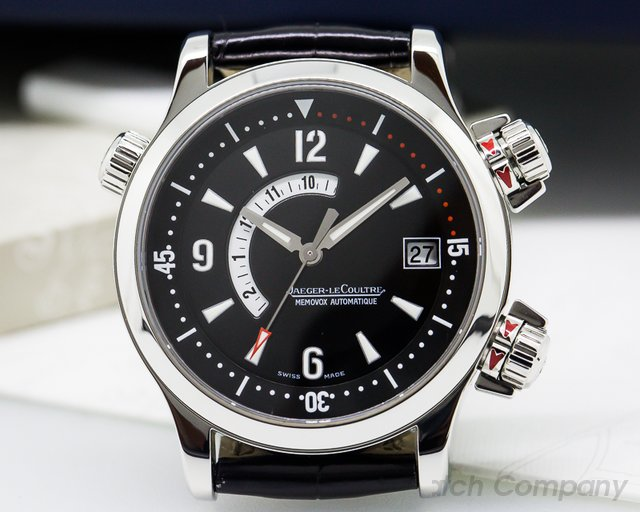 Jaeger LeCoultre Master Compressor Memovox SS / Leather