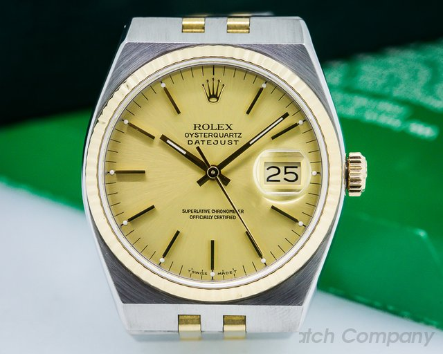 Rolex Oyster Quartz Champagne Dial SS/18K Yellow Gold