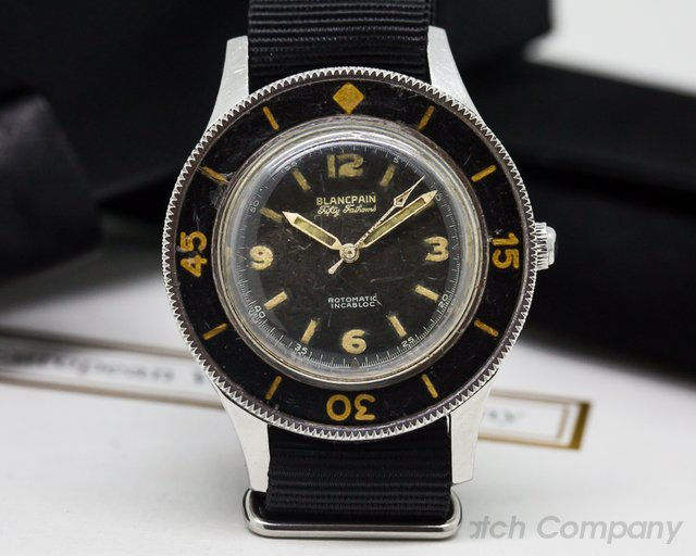 Blancpain Vintage Gilt Fifty Fathoms Aqualung Rotomatic Incabloc RARE