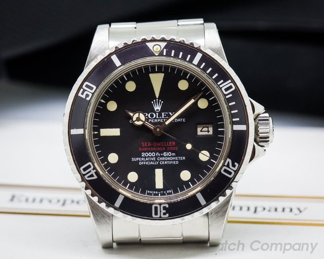 "Rolex Vintage ""Double Red"" Sea Dweller Mark IV Dial SS / SS"