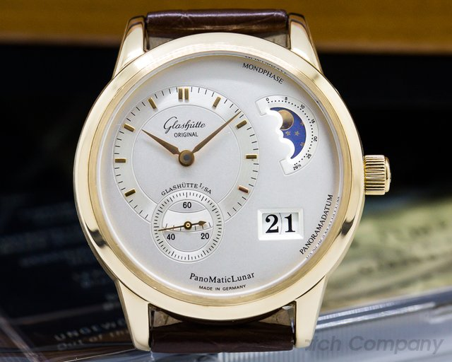 Glashutte Original Panomatic Lunar 18K RG / Leather