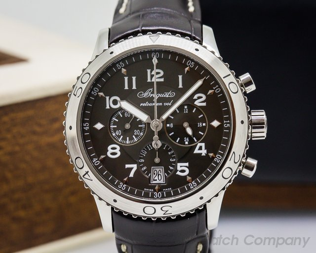 Breguet Type XXI Flyback SS / Alligator Brown Dial