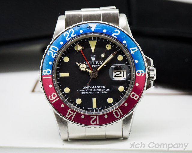 "Rolex GMT Master 1675 Blue / Red ""Pepsi Bezel"" CLEAN"