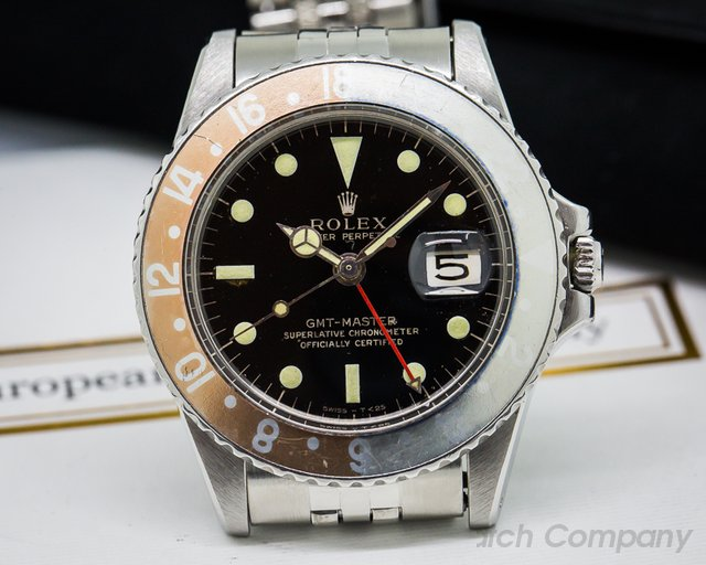 Rolex Vintage GMT Master Gilt Gloss Faded Bezel