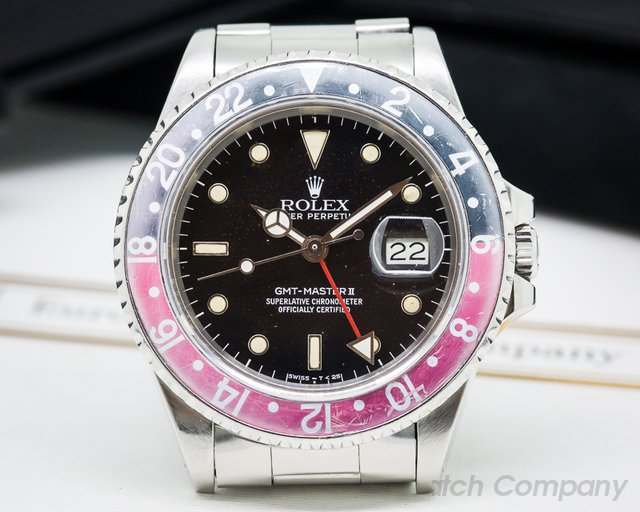 "Rolex GMT Master ""FAT LADY"" Red / Black"