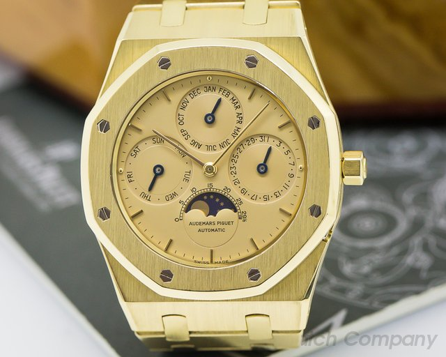 Audemars Piguet Royal Oak Perpetual Calendar 18K Yellow Gold / Champagne