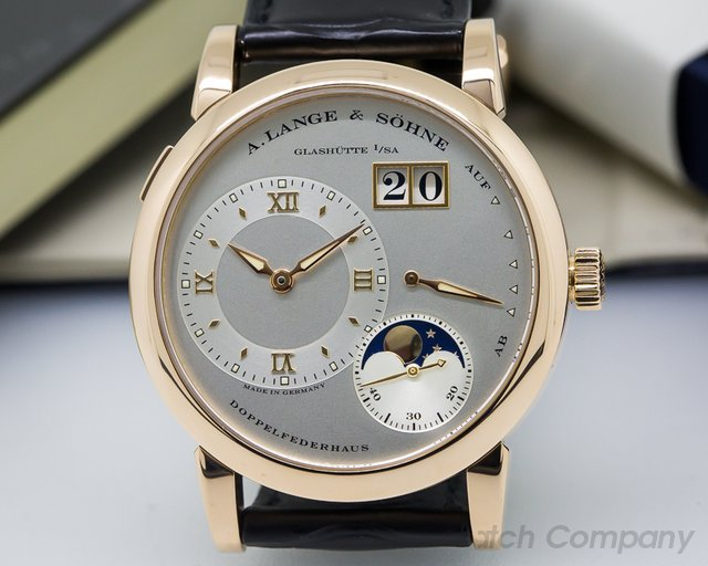 A. Lange and Sohne Lange 1 Moon 18K Rose Gold