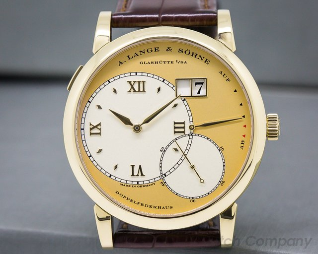 A. Lange and Sohne Grand Lange 1 18K Yellow Gold / Champagne Dial