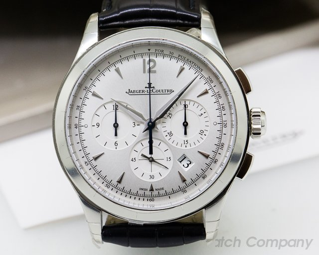 Jaeger LeCoultre Master Chronograph SS Silver Dial UNWORN