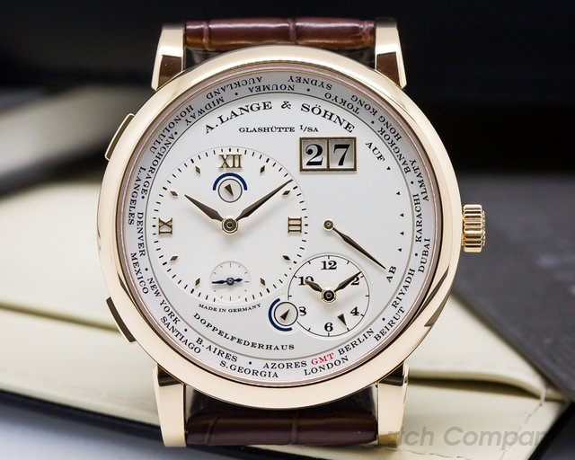 A. Lange and Sohne Lange 1 Time Zone 18K Rose Gold UNWORN