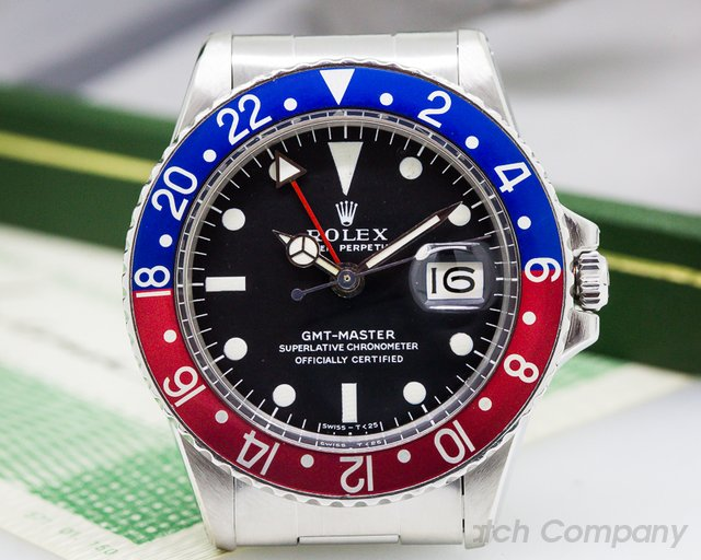 "Rolex Vintage GMT Master Blue / Red ""Pepsi Bezel"" FULL SET SS / SS"