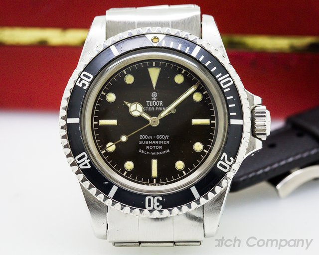 "Tudor Vintage Submariner ""Rose Logo"" Tropical Dial SS / SS"