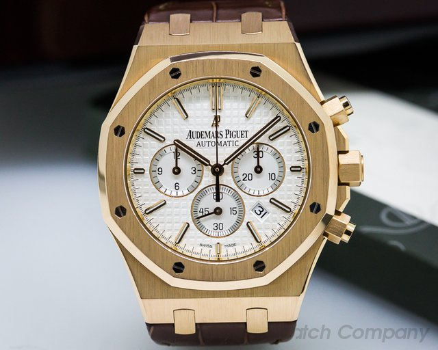 Audemars Piguet Royal Oak Chronograph Silver Dial / Brown Strap