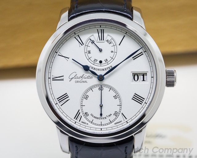 Glashutte Original Senator Chronometer 18K White Gold
