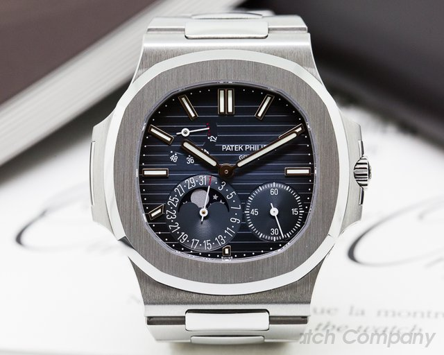 Patek Philippe Jumbo Nautilus Moonphase Power Reserve SS