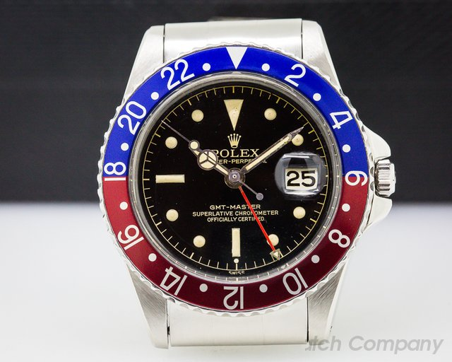 Rolex Vintage GMT Master Gilt Chapter Ring Exclimation GLOSSY + CLEAN