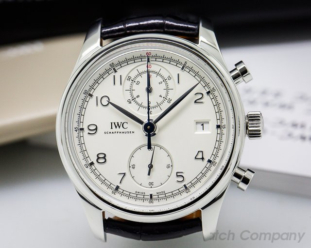 IWC Portuguese Chronograph Classic SS / Silver Dial