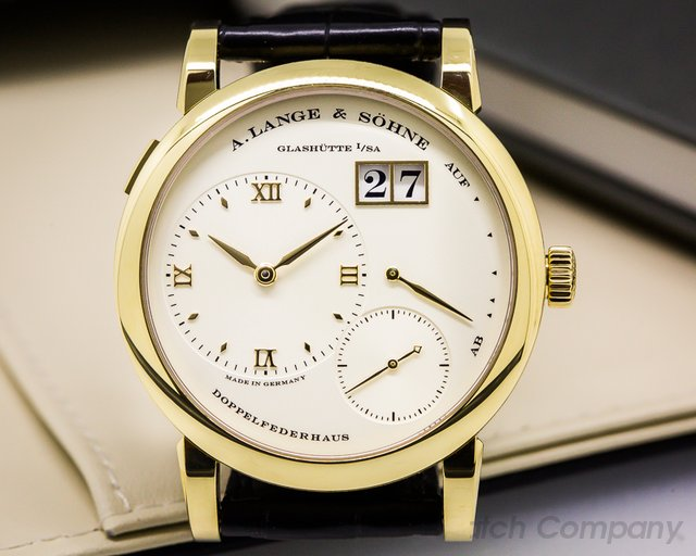 A. Lange and Sohne Lange 1 Yellow Gold Champagne Dial