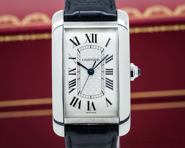 Cartier American Tank XL White Gold