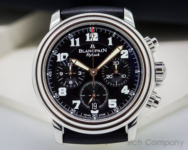 Blancpain Leman Flyback Chronograph Black Dial SS