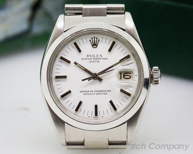 Rolex Oyster Date SS White Dial