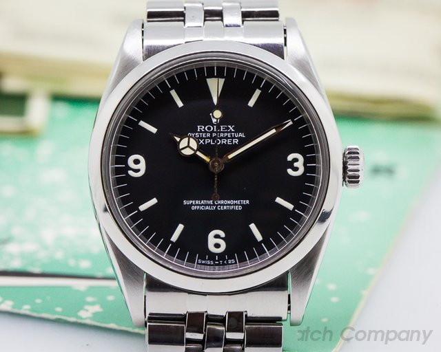 Rolex Vintage Explorer I w/ Original Papers